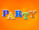 Colorful Party Theme Letters