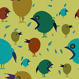 Colorful background with birds