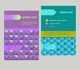 Vector design cover, flyer geometrical abstract pattern