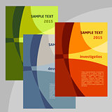 Set of Vector Poster Templates A4. Abstract Background for Business Documents