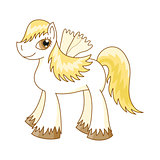 Vector illustration of cute horse, royal pony