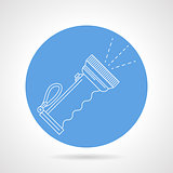 Diver lantern blue vector icon