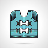Flat design vector icon for life jacket