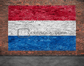 Flag of Netherlands and foreground