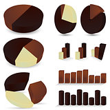 Set of chocolate diagrams