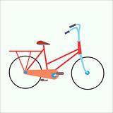 Female urban exercise bike
