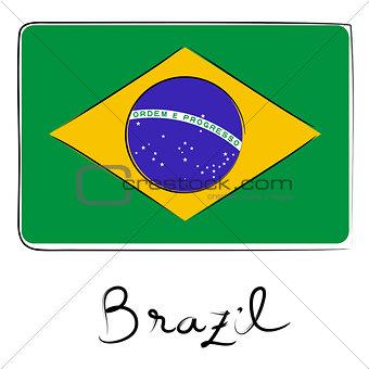 brazil flag doodle