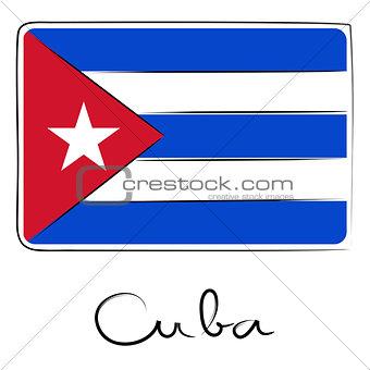 Cuba doodle flag