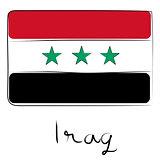 Iraq flag doodle
