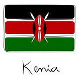 Kenia flag doodle