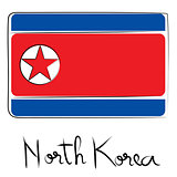 North Corea flag doodle
