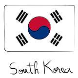 South Korea flag doodle