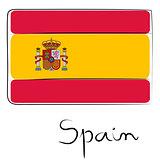 Spain flag doodle