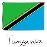 Tanzania flag doodle