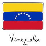 Venezuela flag doodle