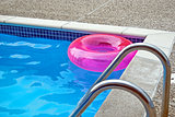 pink pool inflatable ring