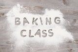 Baking classes poster design