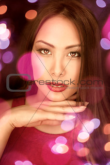 asia glamour girl portrait