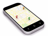phone navigation map