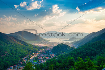 a small town located in the valley of the mountains to the sea