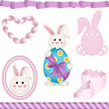 Easter Bunny Digital Elements