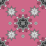 folk inspired  wallpaper paleviolet red