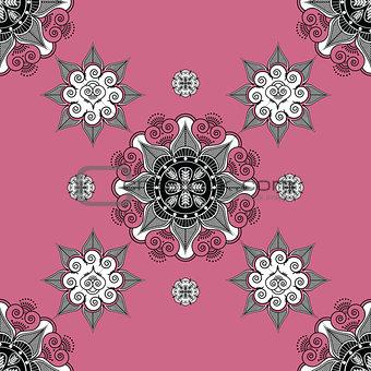 folk inspired  wallpaper paleviolet red