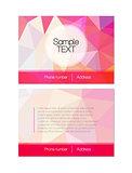 Vector pink modern flyer