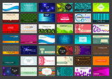 Set of 42 business cards on different topics
