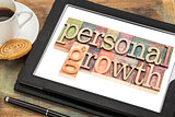 personal growth typography on tablet