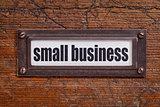 small business label