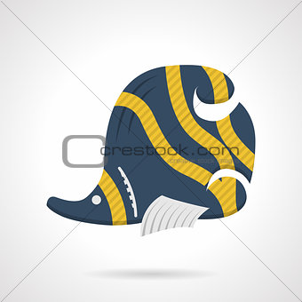 Flat color vector icon for butterflyfish