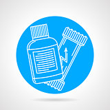 Sport supplements round vector icon