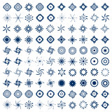 Design elements set. 100 abstract icons.