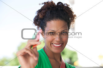Beautiul consumer lady