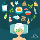 vector spa flat design