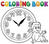 Coloring book clock theme 1