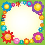 Frame with flower theme 6