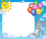Frame with rabbit and balloons 1