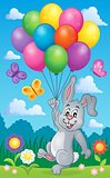Rabbit with balloons theme image 2