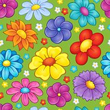 Seamless background flower theme 3