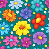 Seamless background flower theme 4