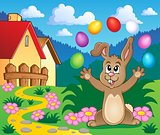 Young bunny with Easter eggs theme 5