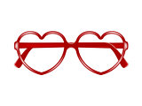 Sun glasses frame in shape of heart without lenses