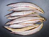 Dried salted Spotfinned spinyeel - Macrognathus siamensis.