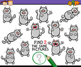 find same picture game cartoon