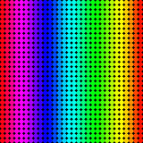 Rainbow background of colored circles
