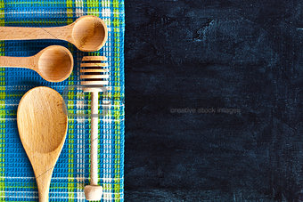 kitchen utensil and tablecloth