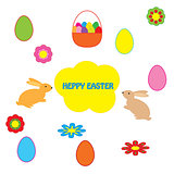 easter greeting on white background
