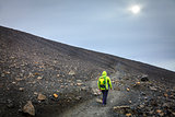 Hiking on the Hverfjall crater
